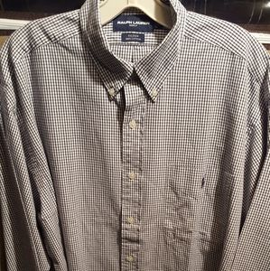 Men's long sleeve check shirt